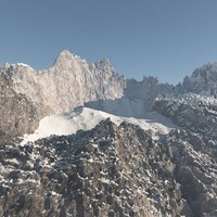 Rocky Mountain Range Peak High Poly 2
