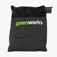 leaf blower bag horizontal 3d model