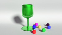 3d glass goblet