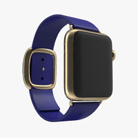 3d model apple watch 38mm gold