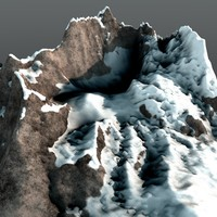 mountain range peak 3d model
