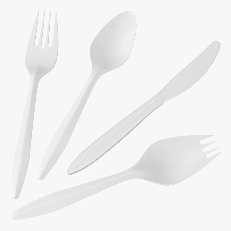 Plastic Cutlery Set 3d models 00.jpg