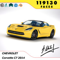 3d model corvette c7 stingray 2014