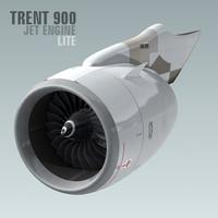 3d model trent 900 jet engine