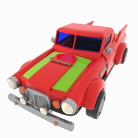 3d cartoon pickup truck model