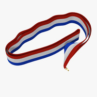 3d medal ribbon 3 model