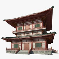 chinese palace 3d max
