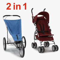baby strollers 3d 3ds