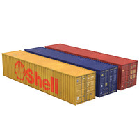 transport 40 ft container 3d max
