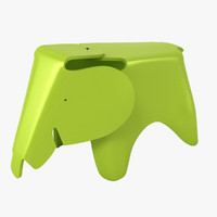 eames elephant stool 3d max