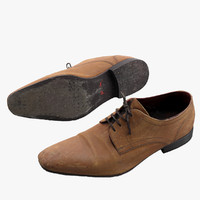 derby shoe 3d lwo