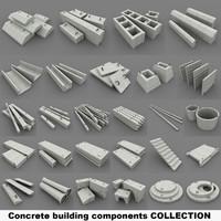 3dsmax concrete building components