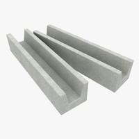 3ds max concrete drain 1