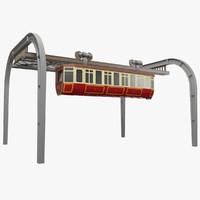 suspended tram obj