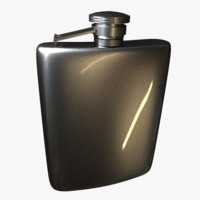 hip flask 3d 3ds