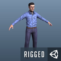 3d model prisoner games rigging ready