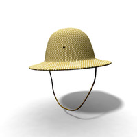 safari hat 3d model