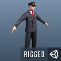 3ds max prison guard pilot games