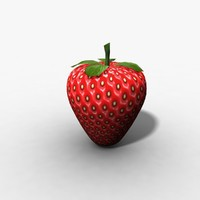 strawberry fruit obj