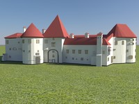 varazdin fortress - old 3d 3ds
