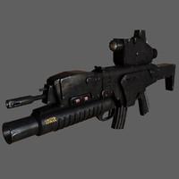 assault rifle 3d max