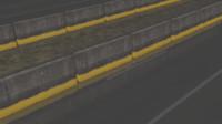 concrete barrier 3d obj