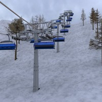3ds max ski lifts