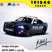 3d dodge charger srt8 2006 model