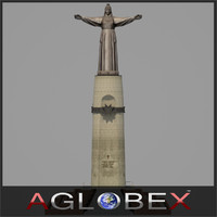 monument mother patroness 3d model
