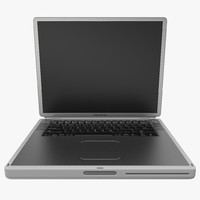 3d apple powerbook g4 model