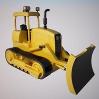 bulldozer dozer 3d max
