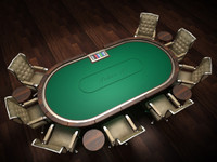 3d model holdem poker table 2