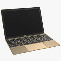 3d 3ds apple macbook pro gold