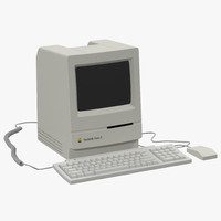apple macintosh classic ii 3d max