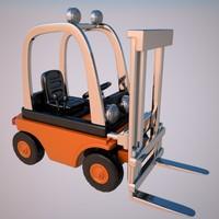 3dsmax forklift lift fork