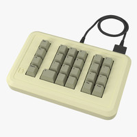3d model apple iie numeric keypad