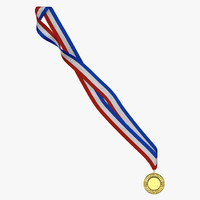 award medal 2 gold 3d model