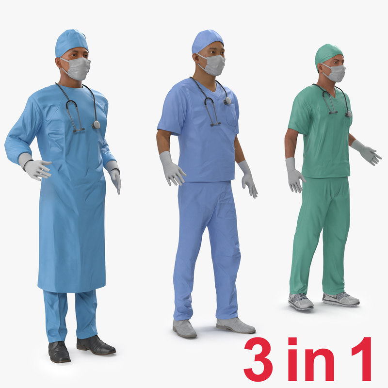 Male Rigged Surgeons Collection 3d models 000.jpg