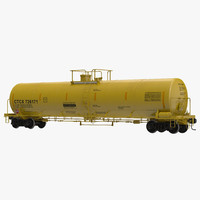 railroad tank car 3 3d obj