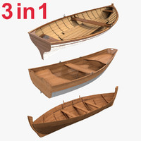 rowboats set 3d model