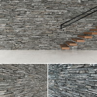 3d model seamless stone wall 2