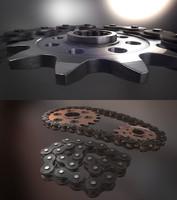 gears chain ress obj