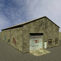 3d industrial building warehouse model