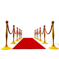 3d model red carpet