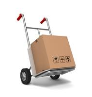 maya hand truck cardboard box