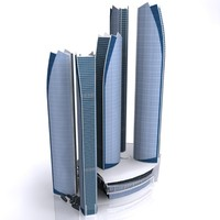 etihad tower building 3d model