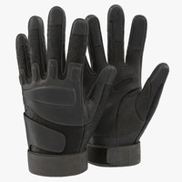 maya soldier gloves black