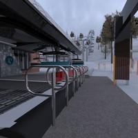 ski center 3d model