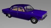 russian old car obj