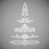 3d decorative plaster model